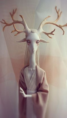 Fantasy | Whimsical | Strange | Mythical | Creative | Creatures | Dolls | Sculptures | deer on Toy Design Served