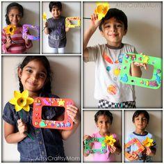 DIY photo frame & egg carton daffodils - Craft Class 8 - Artsy Craftsy Mom