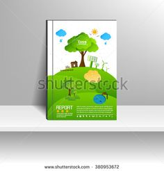 Vector design for Cover Report Annual Flyer Poster
