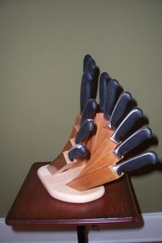 A unique take on a classic kitchen knife block!