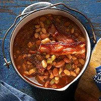 Ranch Beans with Peppered Bacon Recipe