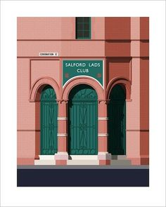 Salford Lads Club print by We Live Here