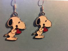 A personal favorite from my Etsy shop https://www.etsy.com/listing/508059367/snoopy-earrings-j55