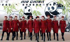 Air China Stewardess Uniforms ~ Cabin Crew Photos