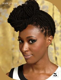 Try a new hairstyle every Monday!  This may mean waking up earlier  -_-  Inspiring Beautiful #dreadlocks #locs #naturalhair