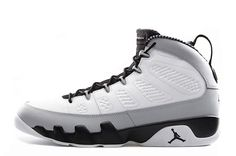 "3b68811954b773 Air Jordan 9 Retro ""Birmingham Barons"" White Black-Natural Grey For Sale"
