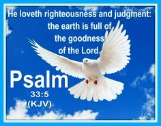 "✝Psalm 33:5 KJV✝ ❤✡""Am Yisrael Chai, Yeshua Adonai""✡❤ ""He loveth righteousness and judgment: the earth is full of the goodness of the LORD"". ( Psalm 33:5 KJV ) ""( A Psalm of David. ) The LORD is m..."