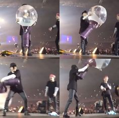 •suga swinging around a giant army bomb just made my day also jimins reaction talk about yoonmin•