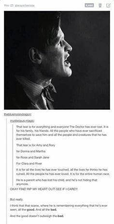 Thank you SO much fellow Whovian. As if I wasn't already crying over this scene! :'(