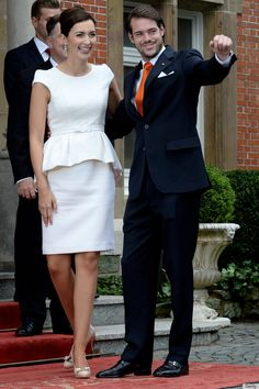 huffingtonpost:  Civil wedding of Claire Lademacher and Prince Felix of Luxembourg, son of Grand Duke Henri and Grand Duchess Maria-Teresa, Germany, September 17, 2013.  The religious wedding will be held in France, Saturday September 21, 2013.