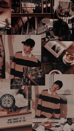 ╒═══════ ⋆⋅ ☆ ⋅⋆ ════════╕ Wallpaper and lockscreen aesthetic foun… # Acak # amreading # books # wattpad Vaporwave Anime, Aesthetic Lockscreens, Kpop Backgrounds, Nct Winwin, Movies And Series, Instagram Frame, Brown Aesthetic, Boy Photography Poses, Seventeen Wallpapers