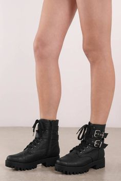 c7153ce1eb336 Lexi Black PU Lace Up Chunky Boots in 2019 | ⚡ comin' in hot ⚡ | Chunky  boots, Boots, Black