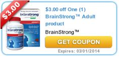 $3.00 off One (1) BrainStrong™ Adult product #coupons
