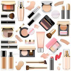 Vector Face Makeup Cosmetics