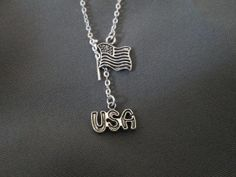 Proud to be an American Lariat Necklace by BeadedDesignsJacquie, $18.00