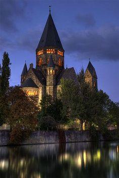 Temple Neuf de Metz in Lorraine, France.