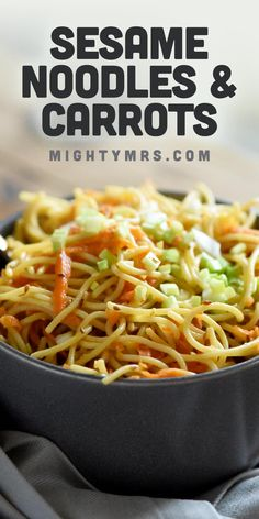 A simple yet delicious cold sesame noodle salad recipe with carrots. Easy to make and perfect for lunches or as a summer side dish. Simple Sesame Noodles, Cold Sesame Noodles, Asian Noodles, How To Make Sandwich, How To Make Salad, Cold Sesame Noodle Salad Recipe, Cold Pasta, Summer Side Dishes, Noodle Recipes