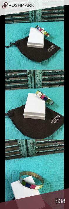 Authentic Coach Bracelet Vibrant Colorful Coach Bracelet Coach Jewelry Bracelets