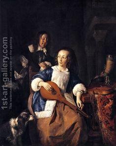 The Cittern Player 1660 by Gabriel Metsu