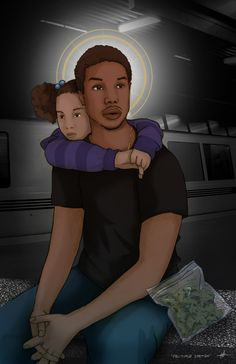 Fruitvale Station illustration  starring Michael B Jordan, Octavia Spencer & Melonie Diaz