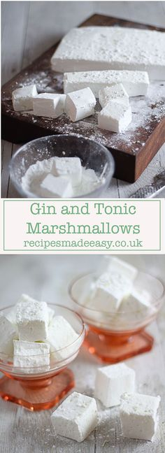 and Tonic Marshmallows fluffy gin and tonic marshmallows by recipes made easy. A perfect gift for any gin lover.fluffy gin and tonic marshmallows by recipes made easy. A perfect gift for any gin lover. Gin Tonic, Gin And Tonic Cake, Recipes With Marshmallows, Marshmallow Recipes, Homemade Marshmallows, Pavlova, Food To Make, Cooking Recipes, Gin Recipes Food
