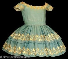 children's dress, 1850's or 60's by homespundress, via Flickr