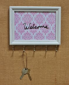Framed Key Holder, Necklace Organizer