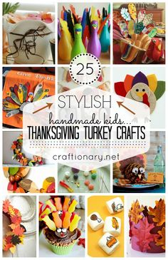 Best Kids turkey crafts for thanksgiving. Teach your kids to give thanks and be thankful in creative ways this Fall (Autumn). Make easy thanksgiving crafts