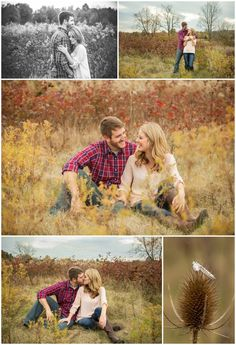Fall engagement session at Highbanks Metro Park in Central Ohio