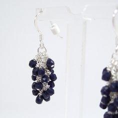 Etsy :: Dark Navy Blue Cascade Earrings by MaryMorrisJewelry