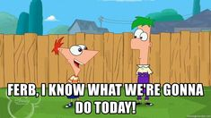 ferb i know what we're gonna do today - Google Search Phineas And Ferb, Bullshit, I Know, Google Images, Family Guy, Guys, Memes, Picture Ideas, Disney