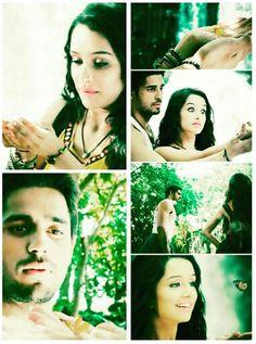 Sidharth malhotra and shraddha kapoor as Guru and aisha in ek villain, aisha's wishes to play with butterflies
