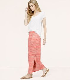 Bamboo Stripe Maxi Skirt