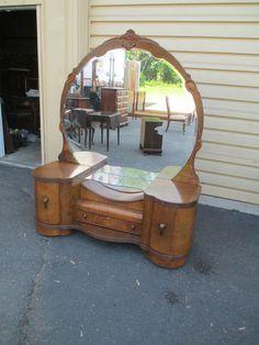 52065 Antique Jiranek Designs Art Deco Vanity | eBay- Beautiful!