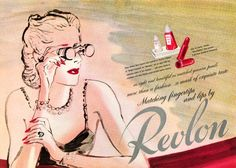 Match your lips and nails. It is dignified. Revlon1944