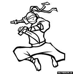 Ninja Nick Coloring Page | Free Ninja Nick Online Coloring #Japanese culture for #kids