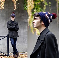 Get this look: http://lb.nu/look/8537995  More looks by Matthias Cornilleau: http://lb.nu/stylnoxe  Items in this look:  M&S Xmas Beanie, Marks & Spencer Khaki Peacoat, Jeans, M&S Chukka Boots   #elegant #preppy #romantic #xmasbeanie #xamspuddings