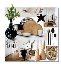 """""""INVITE FOR HOLIDAYS"""" by linea-prima ❤ liked on Polyvore featuring interior, interiors, interior design, home, home decor, interior decorating, Threshold, Mikasa, A Little Lovely Company and applicata"""