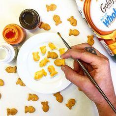 Goldfish: giving me and my hand goblin fuel to paint more...goldfish #WheresTheGolffishEmoji #plart