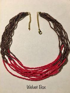 Beaded hand made necklace - Welvet Box