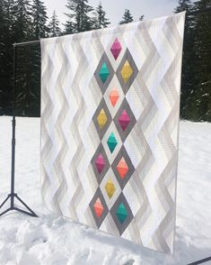 "Ten days and counting! I finally get to post cool pics of some of my new patterns coming out! This one is ""Woven Jewel Box"" it is a quilt… Modern Quilt Patterns, Quilt Block Patterns, Jelly Roll Quilt Patterns, Jellyroll Quilts, Scrappy Quilts, Quilting Projects, Quilting Designs, Quilt Design, Quilting Ideas"