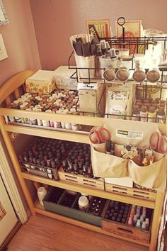 baby changing table > art supply storage =)