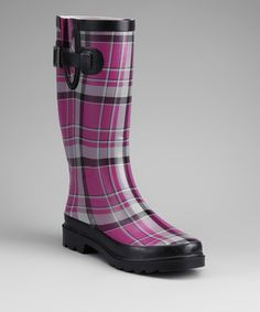 Take a look at this Purple Plaid Rain Boot by Western Chief on #zulily today!
