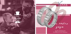 Junio... Te Amo Papá ♥♥♥ Un niño una Churumbela... Churumbelas Platino & Diamante / Argollas de Matrimonio /Joyería Oro Blanco de 14k / Anillo de Compromiso... #tbt #yonovia #joyería #boda #elartedeammar #Papa #felizdiapapa