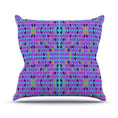 KESS InHouse FS1001AOP03 18 x 18-Inch 'Fernanda Sternieri Optical Paisley Purple Pink' Outdoor Throw Cushion - Multi-Colour -- You can get more details by clicking on the image. #GardenFurnitureandAccessories