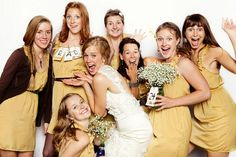 Mustard bridesmaid's dresses by Lulu's