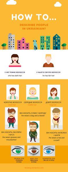 Learn how to describe people in #Ukrainian
