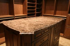 Oh, what a pretty shape to this kitchen island!