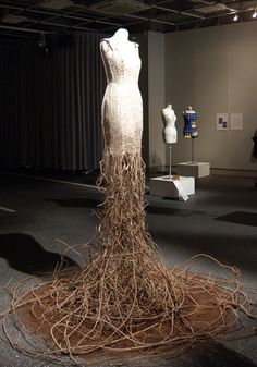 Katsura Takasuka - The clothes of Earth #faerie  amazing branch dress- could we make something like this?