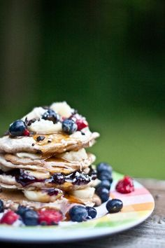 tomorrow's breakfast  pancakes with tons of berries.  hard to go wrong and definite points when made for the one you love while she is still sleeping in bed.